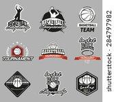 set of various basketball... | Shutterstock .eps vector #284797982