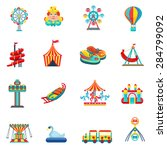 amusement park for children... | Shutterstock .eps vector #284799092