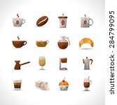 coffee brown with shadows...   Shutterstock .eps vector #284799095
