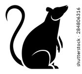 vector stylized rat... | Shutterstock .eps vector #284806316