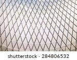metal ceiling  metal texture... | Shutterstock . vector #284806532