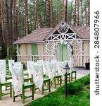 wedding ceremony decoration. | Shutterstock . vector #284807966