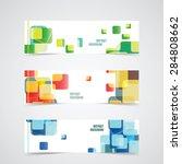set of banner templates for... | Shutterstock .eps vector #284808662