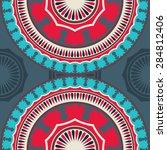 seamless pattern ethnic style....   Shutterstock .eps vector #284812406