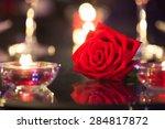 Single Rose In A Romantic...