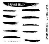 vector set of grunge brush...   Shutterstock .eps vector #284818346