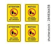 no food no drinks sign vector...   Shutterstock .eps vector #284836658