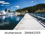 Floating walkway over Lake Coeur d