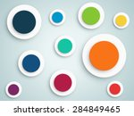 abstract circle vector...   Shutterstock .eps vector #284849465