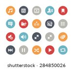 web   mobile icons   7   ... | Shutterstock .eps vector #284850026