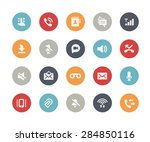 web   mobile icons   1   ... | Shutterstock .eps vector #284850116