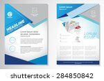 vector brochure flyer design... | Shutterstock .eps vector #284850842