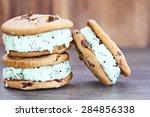 chocolate chip mint ice cream... | Shutterstock . vector #284856338