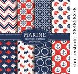 set of marine and nautical...   Shutterstock .eps vector #284858378