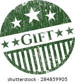 gift rubber grunge stamp | Shutterstock .eps vector #284859905