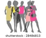 five transparent female... | Shutterstock . vector #28486813