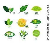 tea leaf logo set illustration | Shutterstock .eps vector #284869766