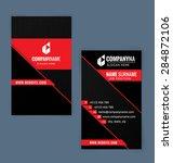 business card template. black... | Shutterstock .eps vector #284872106