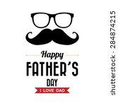 happy fathers day vintage retro ... | Shutterstock .eps vector #284874215
