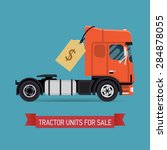 tractor unit truck for sale... | Shutterstock .eps vector #284878055