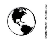 vector globe icons with shadow  | Shutterstock .eps vector #284881352