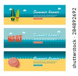 travel and vacation vector... | Shutterstock .eps vector #284892692