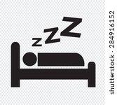 sleeping icon design | Shutterstock .eps vector #284916152