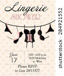 lingerie shower   Shutterstock .eps vector #284921552