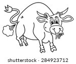 a bio bull for coloring that... | Shutterstock .eps vector #284923712