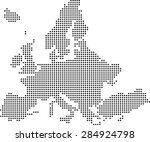 map of europe | Shutterstock .eps vector #284924798