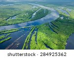 Aerial View Flooded Forest...