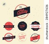 retro premium quality labels... | Shutterstock .eps vector #284927636