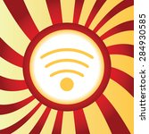 yellow icon with image of wi fi ...