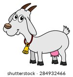 a dairy goat with a bell | Shutterstock .eps vector #284932466