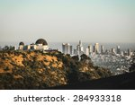 griffith observatory with a... | Shutterstock . vector #284933318