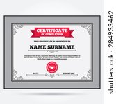 certificate of completion....   Shutterstock .eps vector #284933462