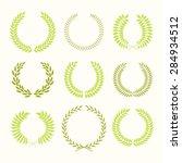 set of laurel wreaths. heraldic ... | Shutterstock .eps vector #284934512