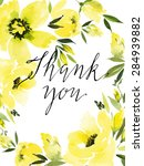 watercolor greeting card... | Shutterstock .eps vector #284939882