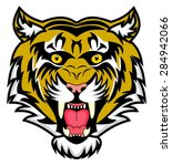 very enraged bengal tiger | Shutterstock .eps vector #284942066