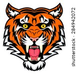 very enraged bengal tiger | Shutterstock .eps vector #284942072