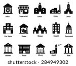 black government building icons ... | Shutterstock .eps vector #284949302