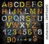 vector chalk alphabet on...   Shutterstock .eps vector #284952692
