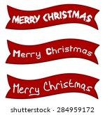 merry christmas banner | Shutterstock .eps vector #284959172