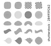 set of vector halftone elements | Shutterstock .eps vector #284959262