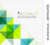 abstract geometric background.... | Shutterstock .eps vector #284962508