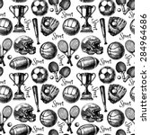 hand drawn sketch sport...   Shutterstock .eps vector #284964686