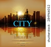 vector background with urban... | Shutterstock .eps vector #284966012