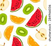 vector seamless colorful... | Shutterstock .eps vector #284966036