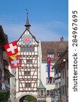 Stein-Am-Rhein medieval city near Shaffhausen, Switzerland