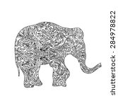elephant  zentangle | Shutterstock .eps vector #284978822